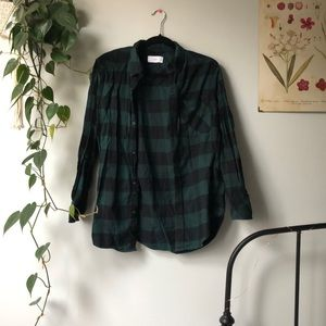 Aritzia TNA Green Plaid